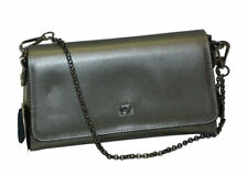 BORSA IN PELLE CON TRACOLLA   YNOT I734  SHOULDER  BAG LEATHER SILVER