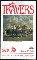 CHAMPION FORTY NINER, SEEKING THE GOLD 1988 TRAVERS STAKES HORSE RACING PROGRAM!