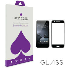 HTC One A9 Tempered Glass Screen Protector FULL 3D Edge to Edge Coverage BLACK