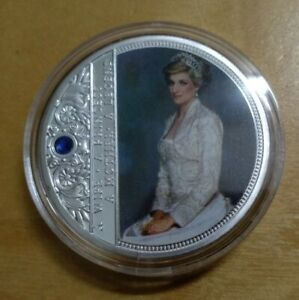 Princess Diana UK silver color medallion coin - A Mother A Princess A Legend