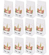 24PCS Unicorn Goodie Bags Paper Gift Bags Treat Bag Birthday Supplies for Girls