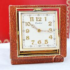 luxus4life: Cartier 8 Days  Pendulette klappbar Straussenleder / Vintage