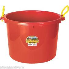 6 Pack Red 70 Qt Muck Bucket Utility Feed Grain Silage Garbage Tub PSB70RED