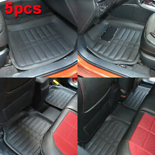 5pcs Universal Car Floor Mats FloorLiner Front & Rear Carpet All Weather Black