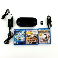 Sony PlayStation Vita Handheld System - Black w/4 Games Bundle- Tested