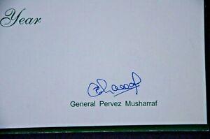 President of Pakistan Pervez Musharraf  Original Autograph