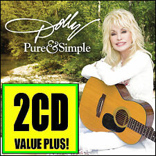 DOLLY PARTON (2 CD) PURE AND SIMPLE w/BONUS Trax ~ COUNTRY & *NEW*