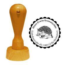 Stempel « IGEL » Adressenstempel Motiv Tier Wald Stacheln Herbst Garten hedgehog