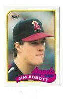 1989 TOPPS TRADED JIM ABBOTT ROOKIE CARD #2T CALIFORNIA ANGELES