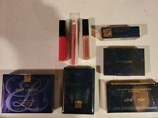 LOT of 8 Estee Lauder Travel Size Items Lipstick Blush Eyeshadow Gloss & MORE!