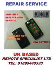 Peugeot  107 207 307 407  Flip Key Micro Switches Replacement  / Repair service
