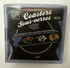 2015 STANLEY CUP PLAYOFFS Participants Puck Coaster Set - Eastern & Western