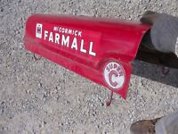 Farmall SC tractor Original Factory IH front hood cover panel over engine +clips