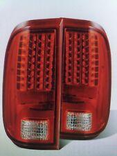 2008-2010 FORD F250 F350 F450 SUPER DUTY RED/CLEAR LED TAIL LIGHTS 03-FD08LED