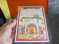 """Mary Engelbreit """" Be Warm Inside & Out """" in Muscial Frame Plays White Christmas"""