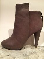 Max Azria Elliot ( BCBG ) Ankle Boots Leather Suede Taupe 37.5/7 $395 Worn Once