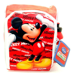 Disney Mickey Mouse Insulated School Lunch Bag & Drinks Bottle - Lunch Box