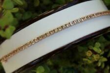 5.00 Ct Round Cut Peach Morganite Tennis Bracelet 14k Rose Gold Over For Women's