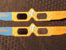1990 ROLLING STONES 3-D Glasses Promotour VF+ Never Folded or Used LOT of 2