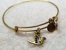 Alex and Ani Gold Dove Of Peace Sacred Dove 🕊 Gold Expandable Bangle Bracelet