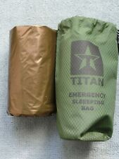 TITAN Survival Emergency Sleeping Bag Dark-Earth Aluminized Poly/Plastic