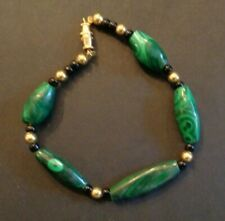 Vintage Malachite Bracelet Gemstone Jewelry