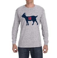 "New England Patriots ""Tom Brady Goat"" Long sleeve Shirt"