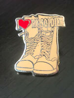 Vintage Collectible I Love My Soldier Boots Colorful Metal Pin Back Lapel Pin