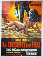 Plakat Kino Le Desert De Feu Edwige Fenech - 120 X 160 CM