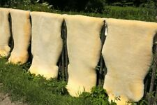 Schaffell MEGA GROß 130-140 cm ökologische Gerbung Unterbett waschbar Lammfell