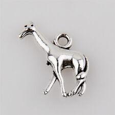 40 Giraffe Tibetan Silver Charms Pendant Jewelry Making Findings 17mm EIF0126