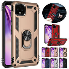 For Google Pixel 4 XL 3A XL Luxury Shockproof Military Armor Ring Case Cover