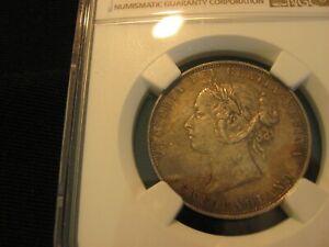 1874. RARE Canada Newfoundland Silver 50 Cents..AU Detail