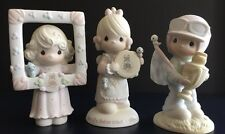 Precious Moments Lot Of 3 Figurines Birds Trophy Frame Pretty As A Picture