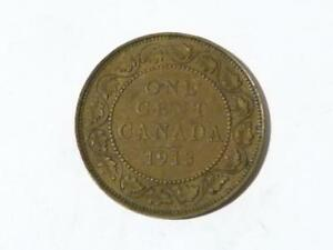 Canada One Cent Coin 1913 George V #B5 MORE PHOTOGRAPHS NOT JUST 1