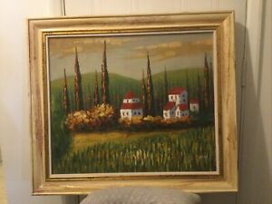 Vintage Oil Painting Frank Davy signed And Framed