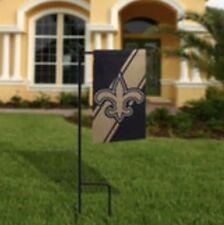 Nwt Nfl New Orleans Saints Mini Garden Yard Flag With Pole