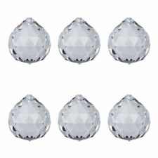 100pcs 40mm Large Clear Crystal Ball Prisms Pendant Chandelier Lamp Parts Home