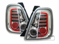 LED taillights REAR LIGHTS set IN chrome FINISH for Fiat 500 500C Cabrio