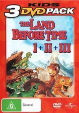 THE LAND BEFORE TIME 1 2 3 =3-DVD SET dinosaurs NEW R4 (Region 4 Australia)