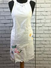 Vintage Retro Mid Century 50s 60s Full Apron Pinny Kitch Lace Embroidered