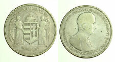 pcc1248_2) HUNGARY UNGHERIA 5 PENGO 1930 SILVER  UNCLEANED