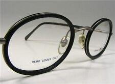 Stunning Black Gant Tradewind Pewter Oval Eyeglass Frames Vtg 1990 Wire Rim New