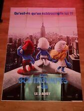 Affiche de cinéma d'époque du film: LES SCHTROUMPFS de 2011  (120x160cm)