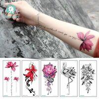 tattoo - sticker 3d - blumen - design sexy body - art vorübergehende abziehbild