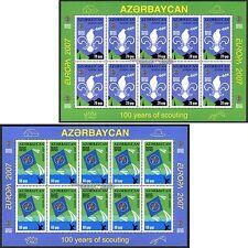 Azerbaigian Azerbaijan EUROPA CEPT 2007, Scout, piccoli archi ** Fresco Posta