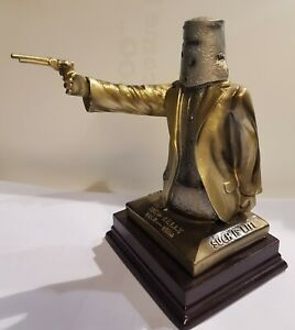 Ned Kelly Statue Bail up 25cm Tall. Bronze & Silver Colour. Free Postage