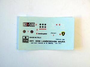 Esci 3058 Lamborghini Miura Vintage Decal Modélisme
