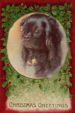 Pekingese Puppy Dog by Minnie Keene 1920's Large New Christmas Note Cards