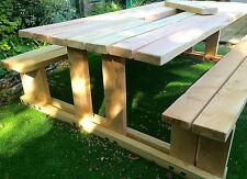 Oversized Picnic Bench - New Forest Timber - Walk in design - 10 Year Guarantee